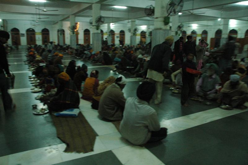 The Langar buzzing with pilgrims for the 'prasad'
