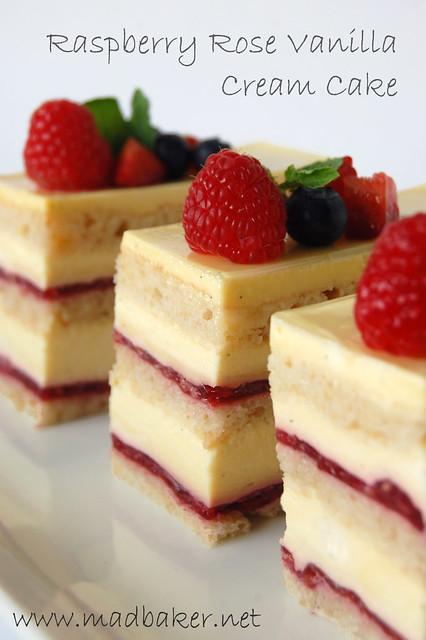 Raspberry Rose Vanilla Cream Cake Recipe From Tartelette