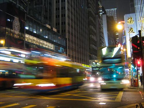 night buses in Hong Kong