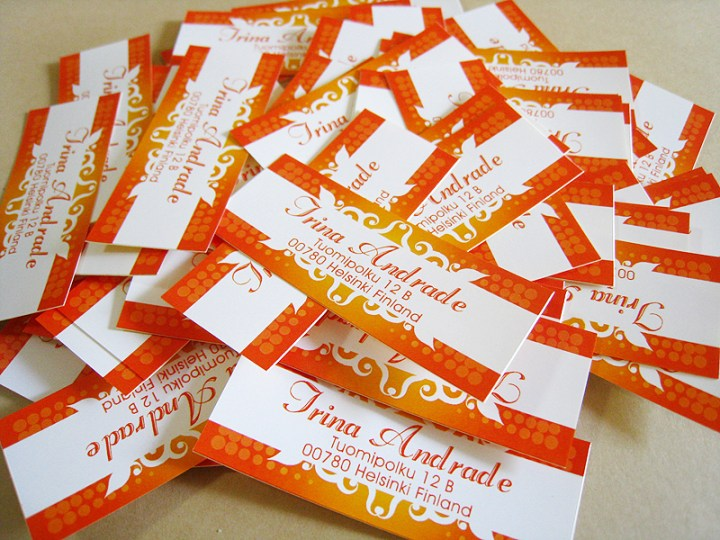 exotic labels orange
