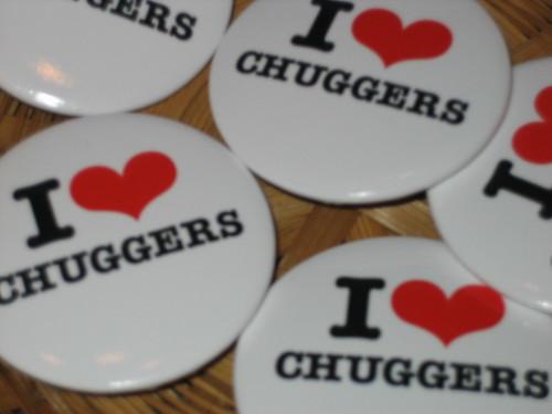 I love Chuggers badges