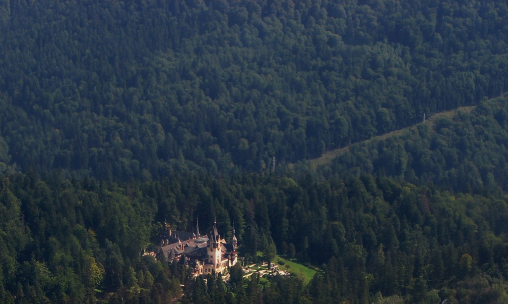 Eagle Eye View of Peles Castle, Romania