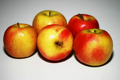 Test Shot with Home Made Snoot - Apples on White
