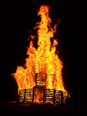 2009 Rose-Hulman bonfire