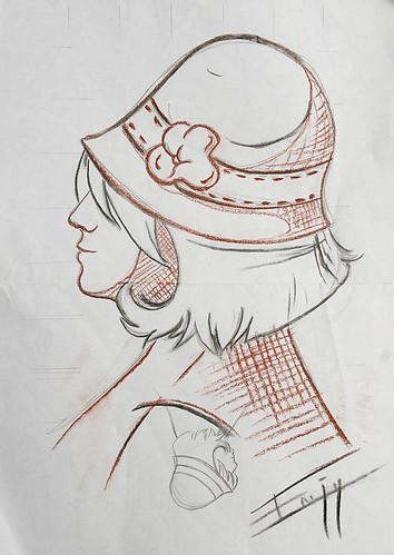 Cloche hat - Chapeau cloche