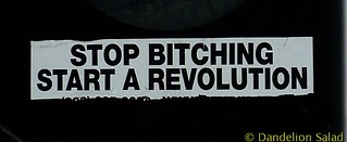 """Stop Bitching - Start a Revolution"""