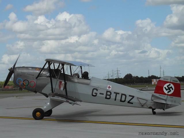 4 P1080384 Bücker Bü 131 'Jungmann' Casa 1-131 {G-BTDZ} _ City Airport - 2008 (5th July)