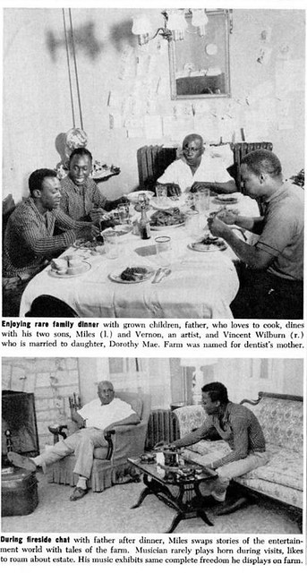 Miles Davis At A Family Dinner and Later with His Father ...