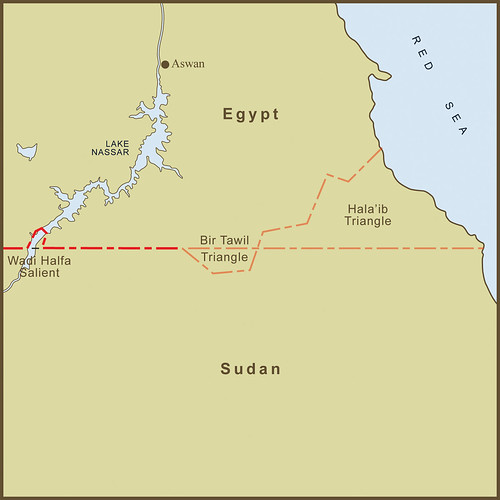 """A Map of the Bir Tawil """"Triangle"""" and Related Territory Dispute Between Egypt and the Sudan"""