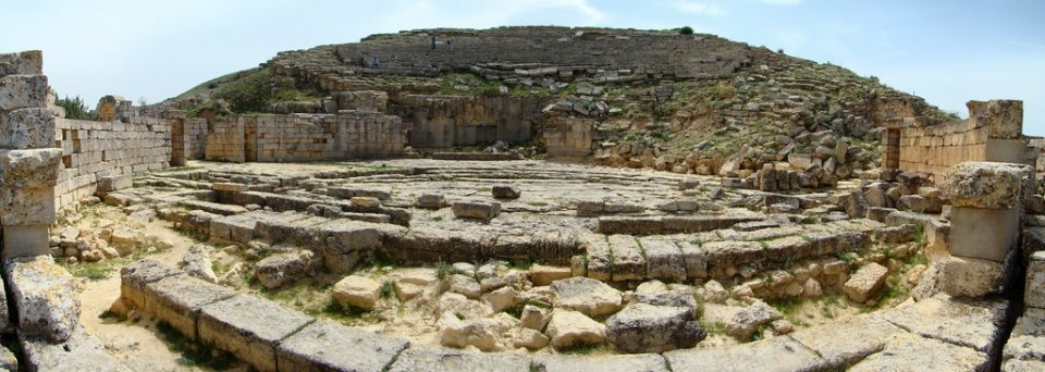 Libia Teatro Romano de Cirene 04