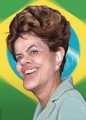 Dilma Rousseff - Caricature