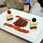 Fruit Short Cake, Chocolate Mousse