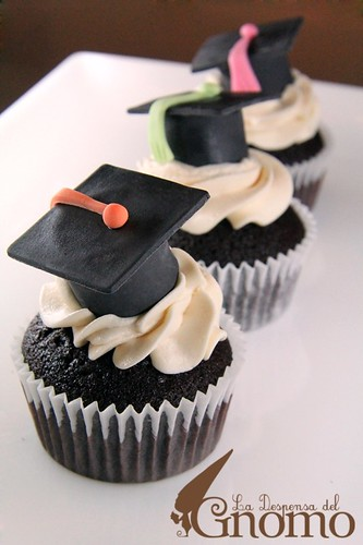 Cupcakes Graduación - Graduation party cupcake