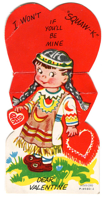 Vintage Valentine Native American More Thoughts Via