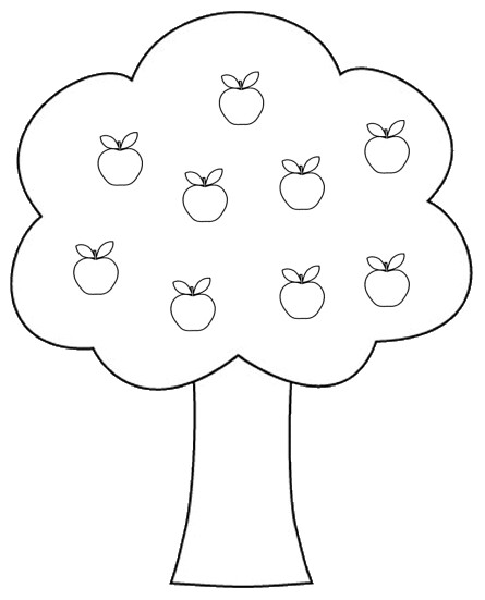 apple tree colouring pages