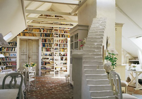 Books. Light. Steps to nowhere.