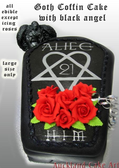 Goth Coffin Black Angel Birthday Cake Flickr Photo