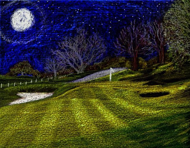 Moon over Gleneagles