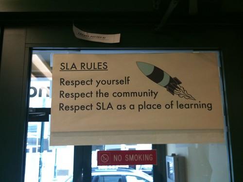 SLA Sign