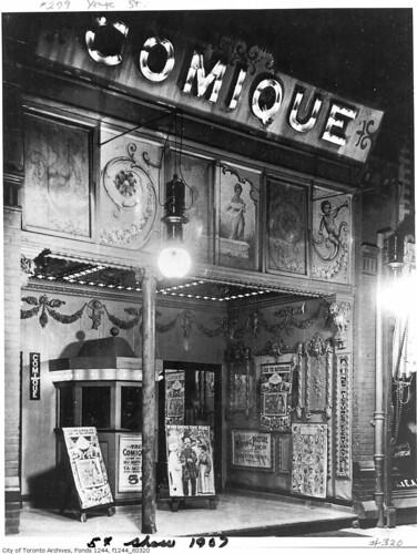 Front of Comique movie theatre