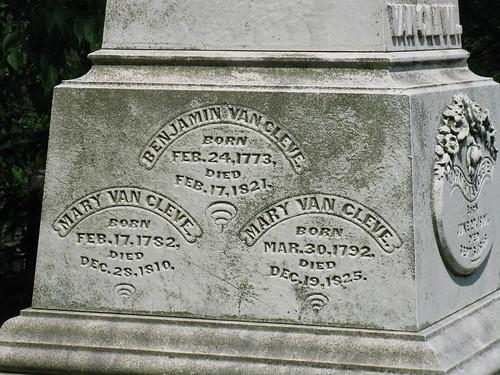 Tombstone of Benjamin Van Cleve