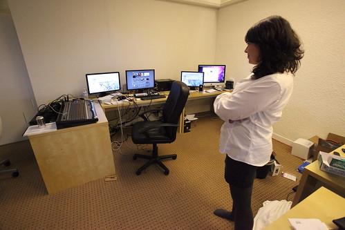 Sarah Lacy looks at TechCrunch TV equipment