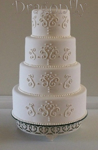 Scrollwork Wedding Cake Explore Signature Sugarart S Photo Flickr Photo Sharing