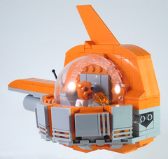 MOC-022 LEGO P Spaceship - Side Front Quarter