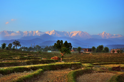 Dhauladhar Range from Kangra Valley, Himachal Pradesh, India