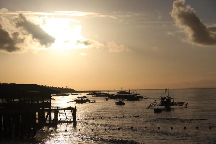 Sunrise at Santander Port