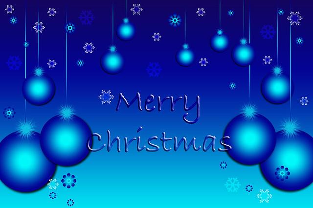 Merry Christmas Blue Wallpaper Flickr Photo Sharing