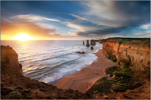 The Sun Sets on the Apostles