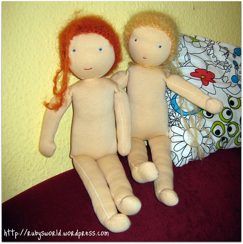 Puppen von Helga und mir