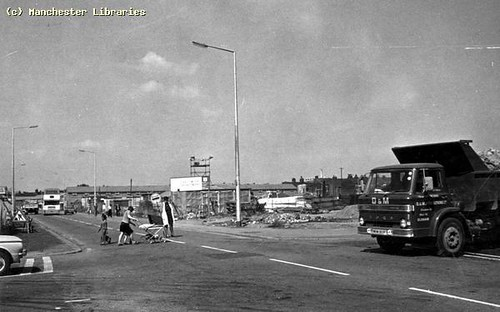 Lollipop-Lady in Moss Side, Upper Lloyd St, 1976.