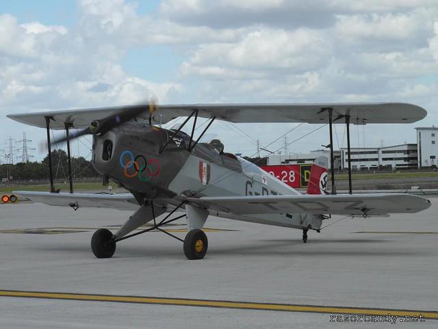 3 P1080382 Bücker Bü 131 'Jungmann' Casa 1-131 {G-BTDZ} _ City Airport - 2008 (5th July)