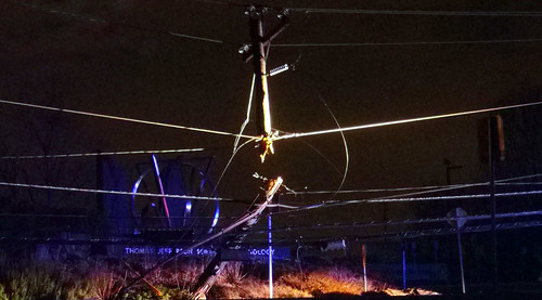 20100116 - drunk driver downed powerline - GEDC1351 - eerie hanging crucifix - brutal