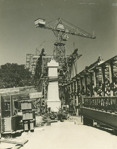 Construction site during the building of the Story Bridge, Brisbane