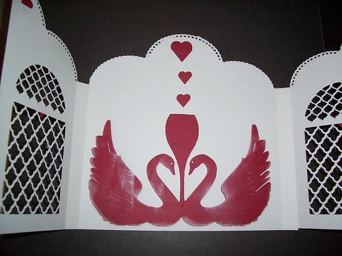 Inside of wedding, anniversary card