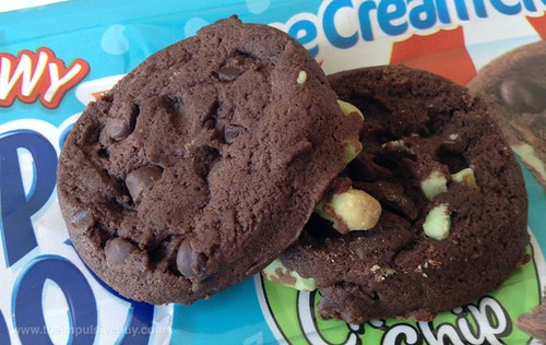 Nabisco Chewy Chips Ahoy! Mint Chocolate Chip Ice Cream Creations Closeup