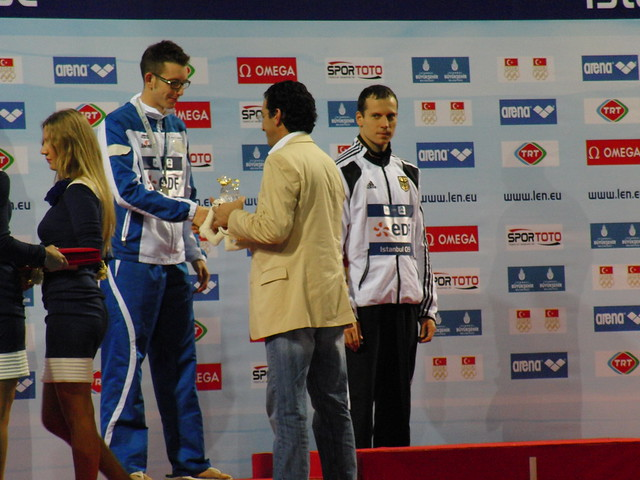 Colbertaldo being congratulated at Istanbul 2009