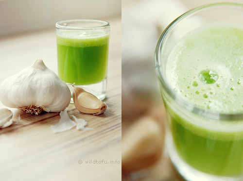 Celery and Garlic Juice