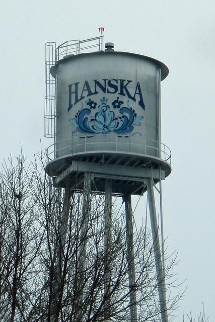 Decorated Hanska water tower