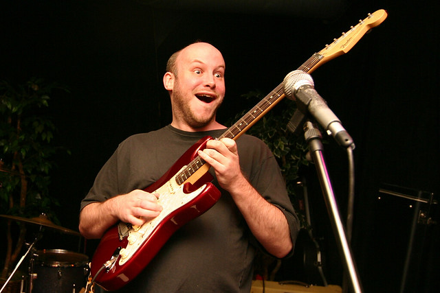 Matt Searles plays guitar