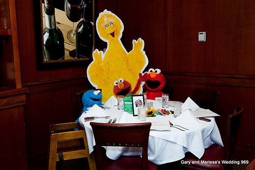 The Sesame Street kids' table
