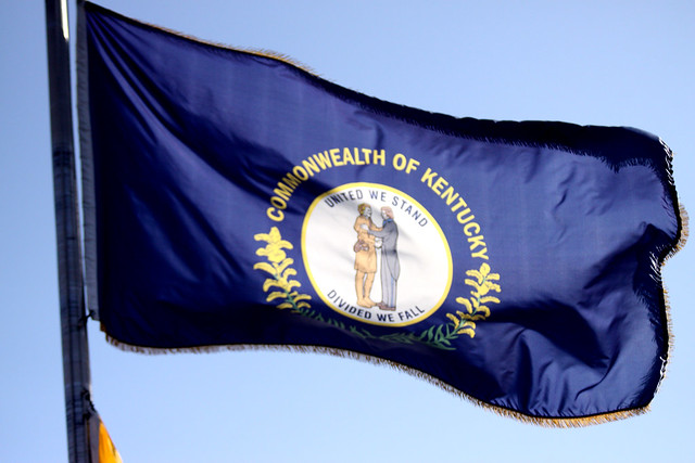 Kentucky's state flag, by Gage Skidmore