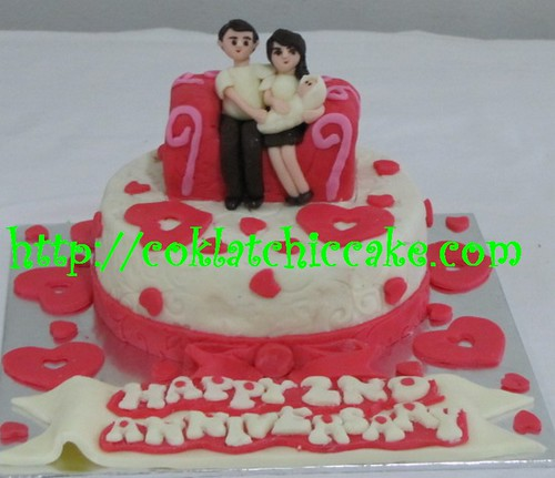 Kue Ulang Tahun Pernikahan Sanni Coklatchic Cake