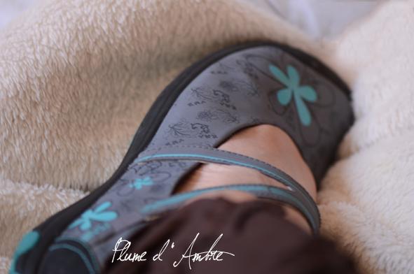 chaussure fleurie