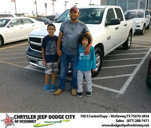 Thank you to Jose Cadena on your new 2013 #Ram #1500 from David Walls and everyone at Dodge City of McKinney! #NewCarSmell by Dodge City McKinney Texas