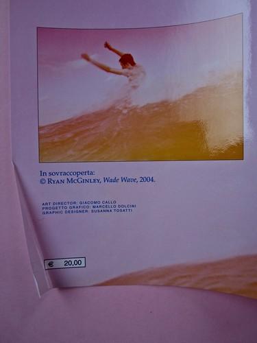 Margaret Mazzantini, Splendore. Mondadori 2013. Art Director: Giacomo Callo; Progetto Grafico: Marcello Dolcini; Graphic Designer: Susanna Tosatti; alla sovracop: ©R. McGinley. Risvolto della q. di sovracop. (part.), 5