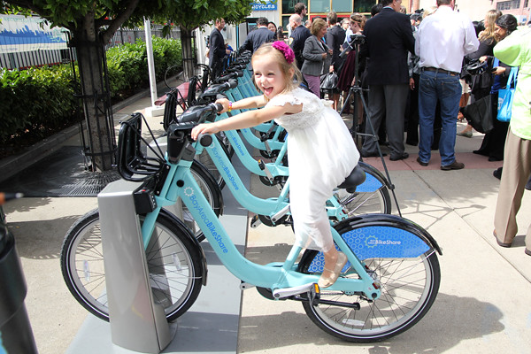 little girl on bikeshare